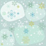 Winter snowflakes blue background, wallpaper Stock Photography