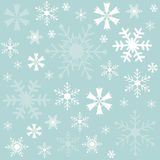 Winter, Snowflakes blue background, wallpaper Stock Image