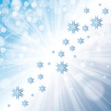 Winter snowflakes blue white background Stock Photography