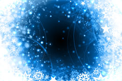 Winter snowflakes blue xmas design. Blue winter snowflakes background design Stock Photography