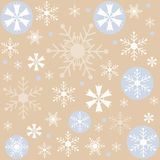 Winter, Snowflakes brown background, wallpaper Royalty Free Stock Photography