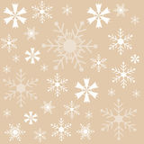 Winter, Snowflakes brown background, wallpaper Royalty Free Stock Photo