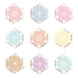 Winter snowflakes colorful sweets pattern. Background. Vector Stock Images