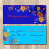 Winter snowflakes design. Wedding invitation card. Vector illustration Royalty Free Stock Images