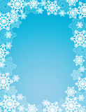 Winter snowflakes frame Stock Images