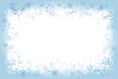 Winter snowflakes frame background Stock Photo