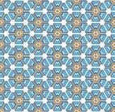 Winter snowflakes hexagonal pattern. Background or textile Winter snowflakes abstract pattern royalty free illustration