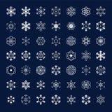 Winter snowflakes icons Stock Photo