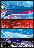 Winter snowflakes ornaments for background Stock Image