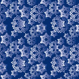 Winter snowflakes pattern Royalty Free Stock Photography