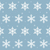 Winter snowflakes seamless pattern background Royalty Free Stock Images