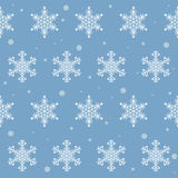 Winter snowflakes seamless pattern background. For use in design Royalty Free Stock Photography