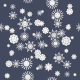 Winter snowflakes seamless texture pattern Royalty Free Stock Photography