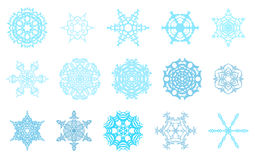 Winter snowflakes set Royalty Free Stock Photo
