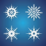 Winter snowflakes set for Christmas design. Victor icons Royalty Free Stock Photography