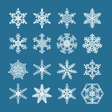 Winter snowflakes set Stock Photo