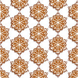 Winter snowflakes sweets pattern. Background. Vector Stock Photography