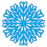 Winter snowflakes vector Royalty Free Stock Image