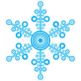 Winter snowflakes vector Royalty Free Stock Photography