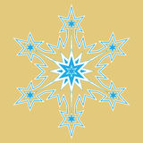 Winter snowflakes vector Stock Image