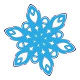 Winter snowflakes vector Royalty Free Stock Photos