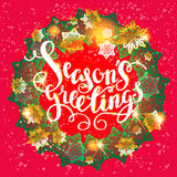 Winter snowflakes wreath Stock Photography