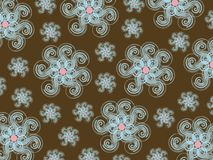 Winter snowflower pattern Stock Photo