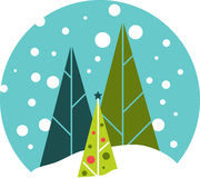 Winter Snowglobe Royalty Free Stock Images