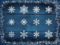 Winter snowing background Stock Photos