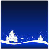 Winter snowing scene Stock Photo