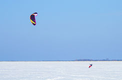 Winter Snowkiting Royalty Free Stock Image