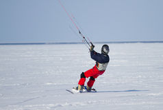 Winter Snowkiting Royalty Free Stock Photos