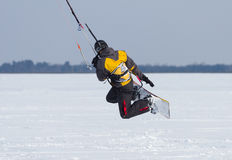 Winter Snowkiting Stock Image