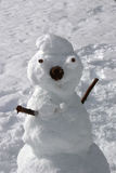 Winter snowman. Made of snow Royalty Free Stock Image