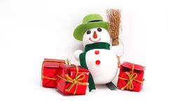 Winter snowman Stock Photo