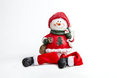 Winter Snowman. A snowman figurine for the Christmas holiday Royalty Free Stock Image