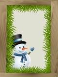 Winter snowman Stock Image