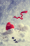 Winter Snowman Royalty Free Stock Images