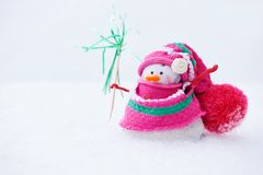 Winter snowman Stock Photos