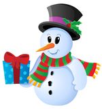 Winter Snowman Theme Image 3 Stock Image