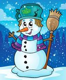 Winter snowman theme image 7 Royalty Free Stock Images