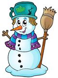 Winter snowman theme image 6 Royalty Free Stock Images
