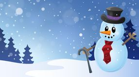 Winter snowman topic image 6 Royalty Free Stock Photo