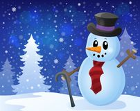 Winter snowman topic image 8 Stock Images
