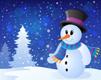 Winter snowman topic image 9 Royalty Free Stock Photos