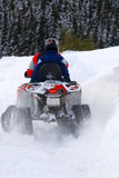 Winter snowmobiling stock image