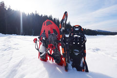 Winter snowshoes Royalty Free Stock Image