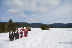 Winter snowshoes Stock Photography