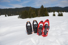 Winter snowshoes Stock Photos