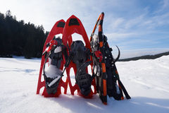 Winter snowshoes Royalty Free Stock Photography